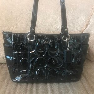 🌷Coach🌷 Black Patent Leather Tote/Shoulder Bag